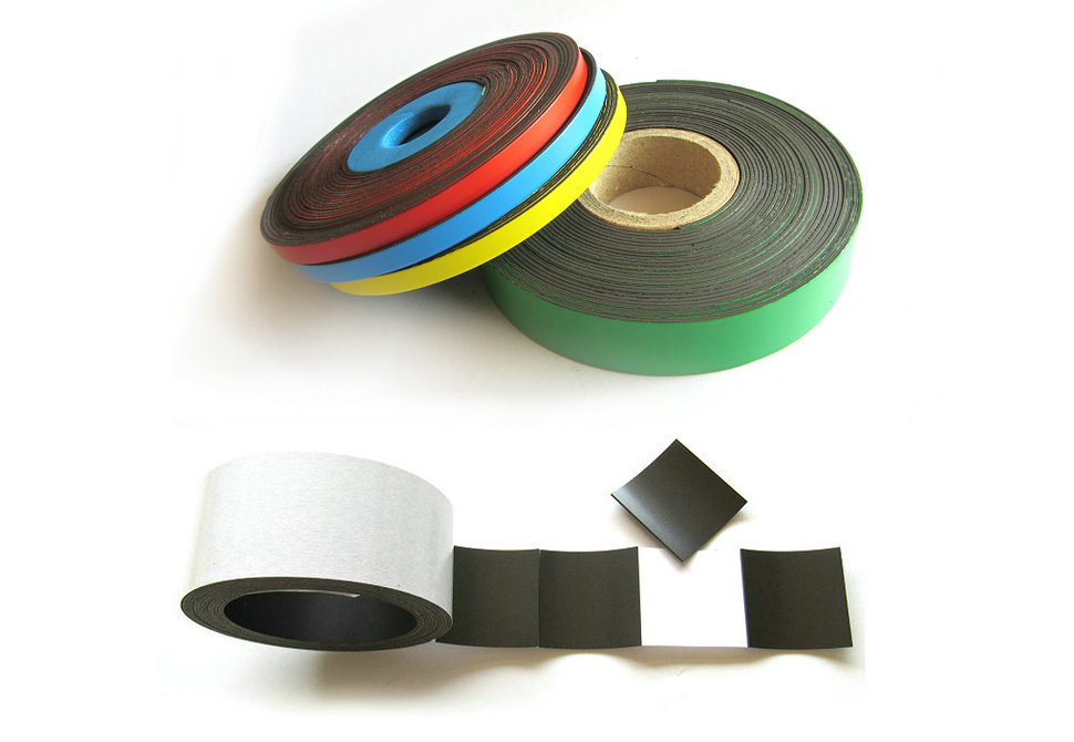 Magnetic strips coloured vinyl